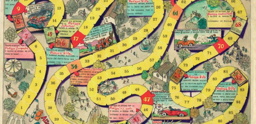 Other campaigns - 'gioco dell'oca' (snakes and ladders)