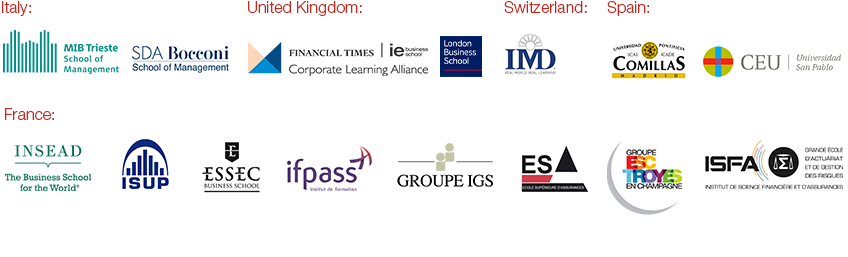 Generali currently partners with the following business schools: