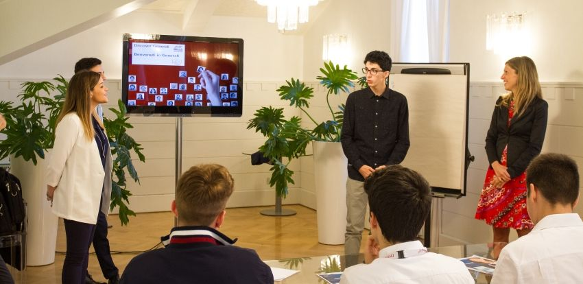 A school-work project: lectures at Generali