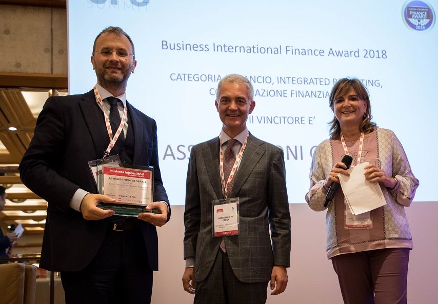 Assicurazioni Generali won at the 2018 Business International Finance Awards